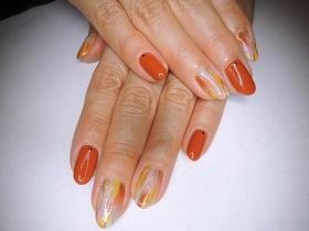 オータムオレンジネイル